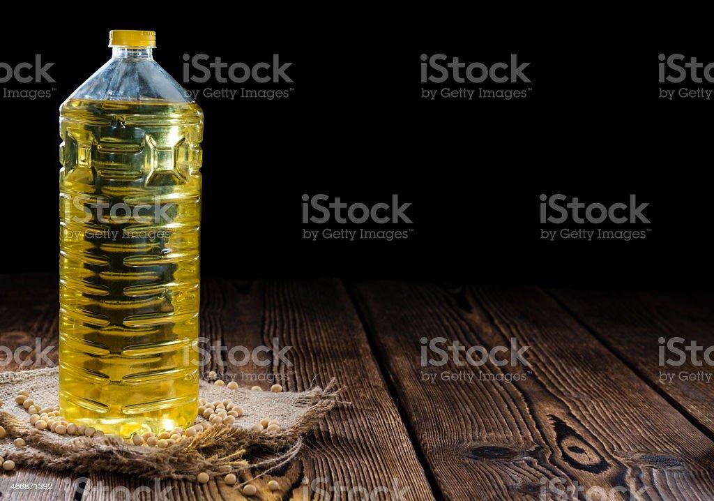 Bottle of Soy Oil stock photo