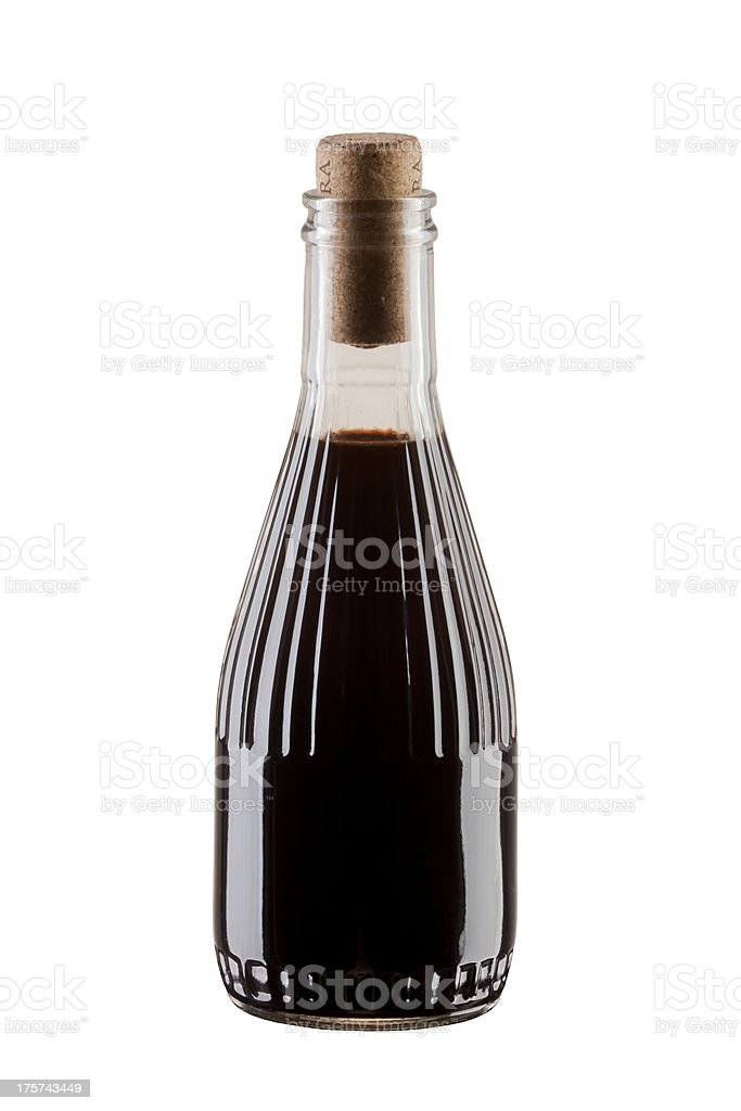bottle of soya sauce or balsamic vinegar royalty-free stock photo