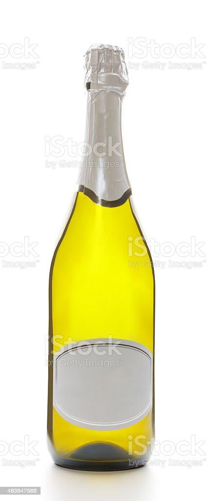 Bottle of sparkling wine. stock photo