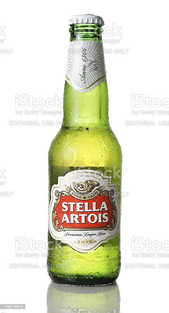 Bottle of Stella Artois stock photo