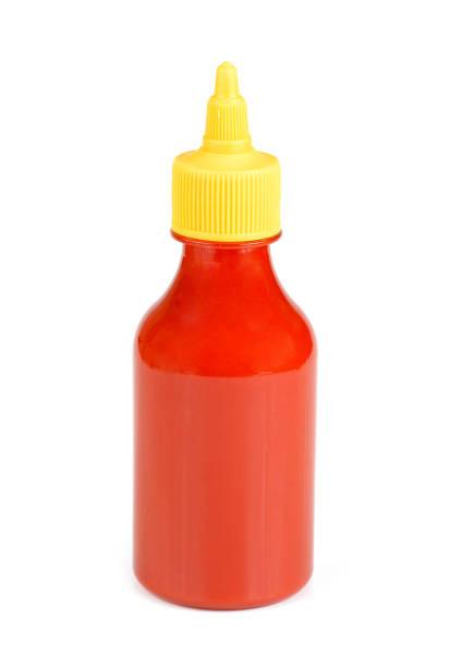 frasco da ketchup de tomate isolado no fundo branco - squeeze bottle - fotografias e filmes do acervo