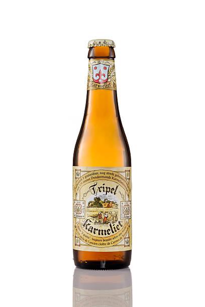 Bottle of Tripel Karmeliet beer stock photo