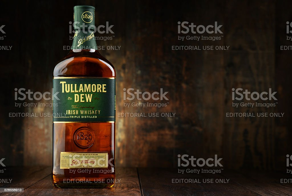 a7d509d1c18b0 Bottle Of Tullamore Dew Irish Whiskey Stock Photo   More Pictures of ...