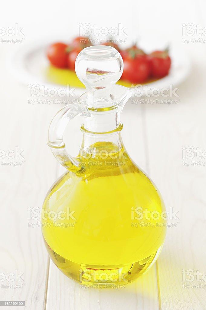 Bottle of vegetable oil royalty-free stock photo