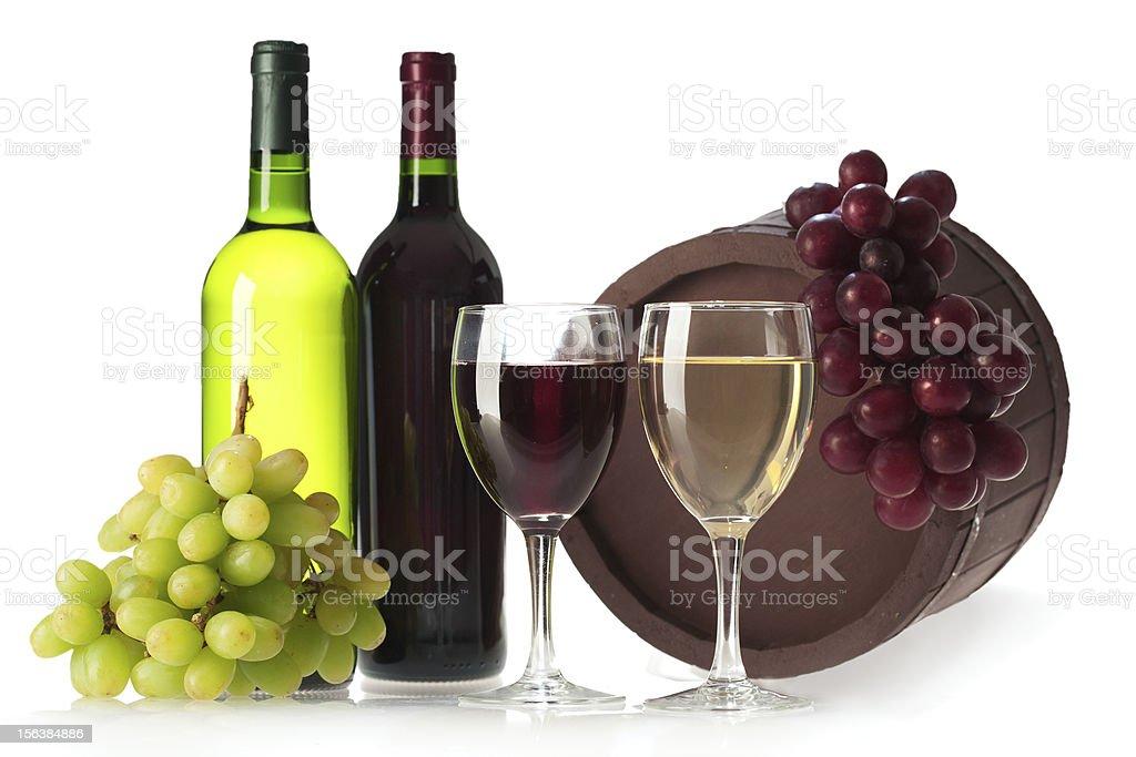 bottle of vine royalty-free stock photo