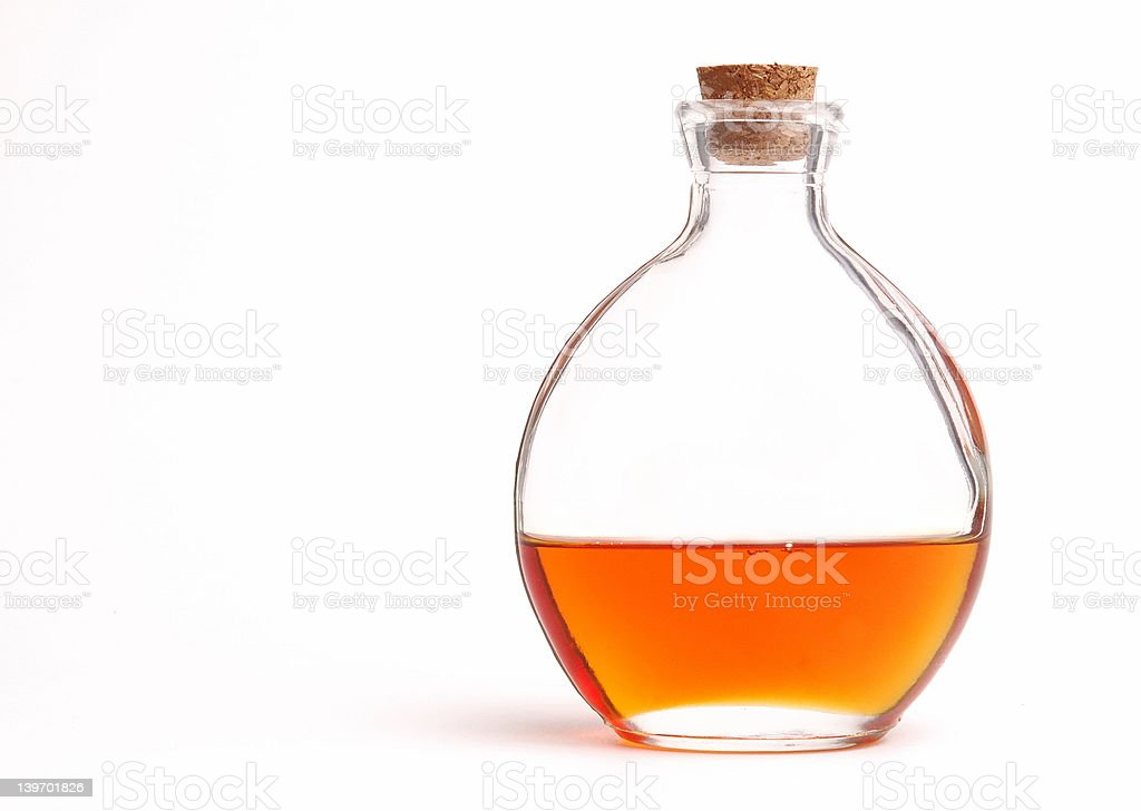 Bottle of Vitamin E Oil royalty-free stock photo