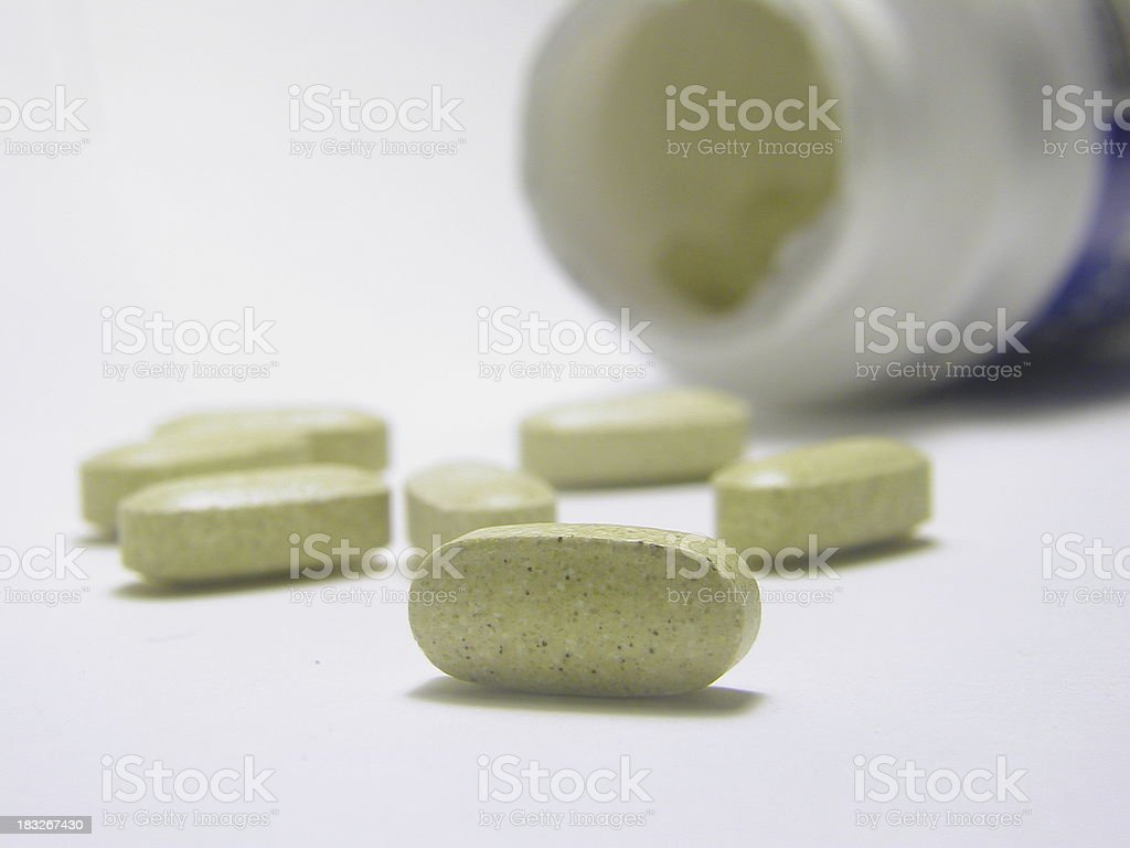 Bottle of Vitamins- Macro (2) royalty-free stock photo