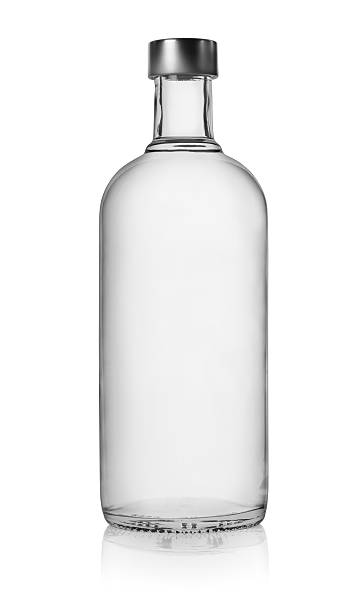 Bottle of vodka isolated Bottle of vodka isolated on a white background. Clipping Path vodka stock pictures, royalty-free photos & images