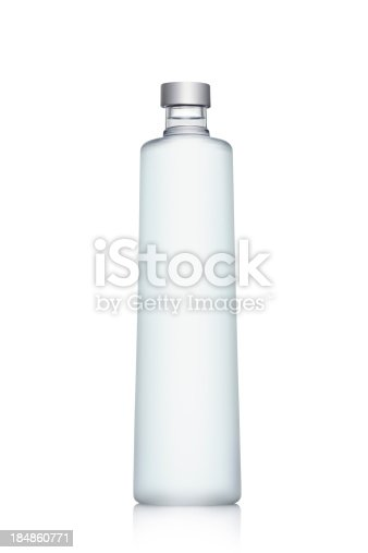 Vodka Bottle of Water isolated on whiteSEE OTHER SIMILAR PICTURES