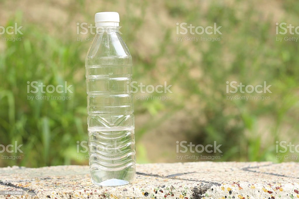 bottle of water royalty-free stock photo