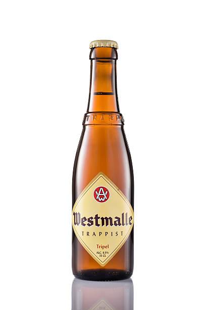 Bottle of Westmalle Tripel Trappist stock photo