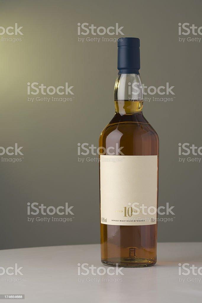 Bottle of Whisky stock photo