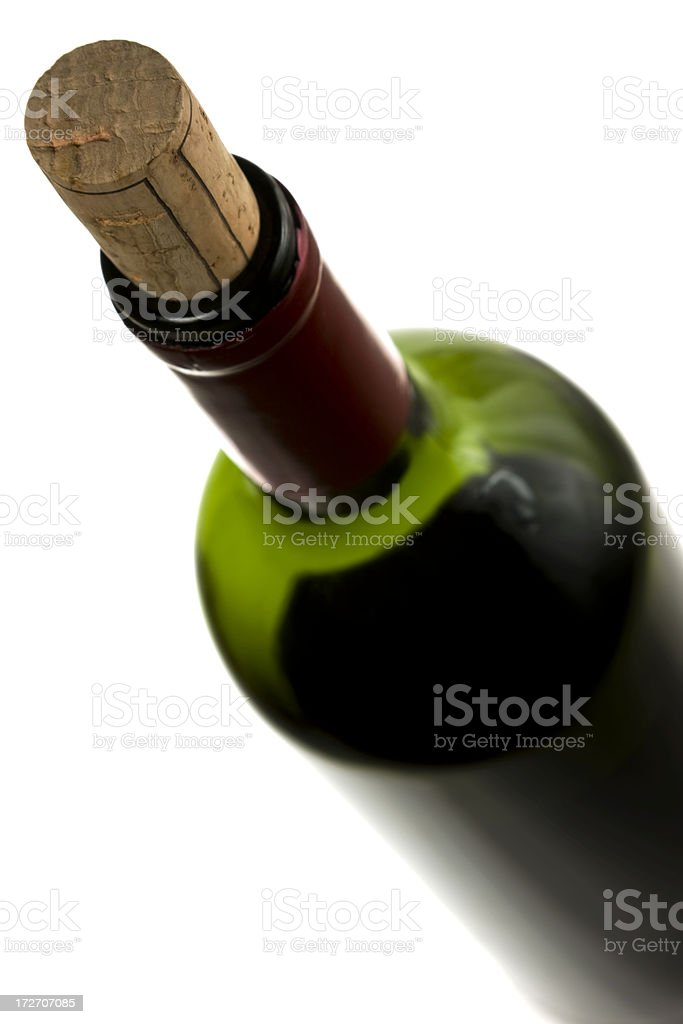 Bottle of wine royalty-free stock photo