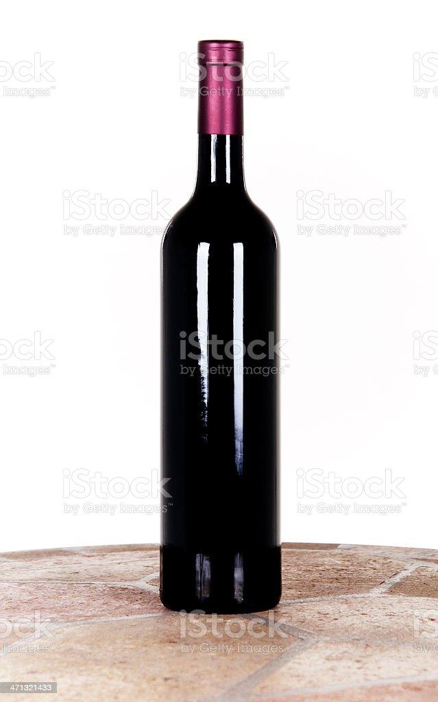 Bottle of wine. royalty-free stock photo