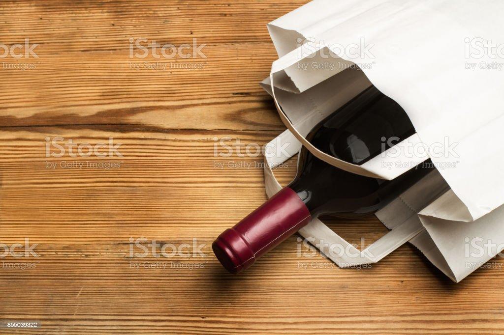 Şarap şişe stok fotoğrafı