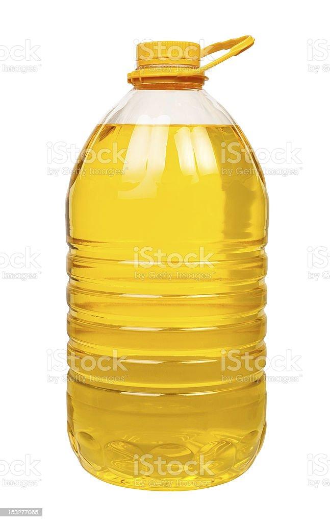 bottle oil plastic big stock photo