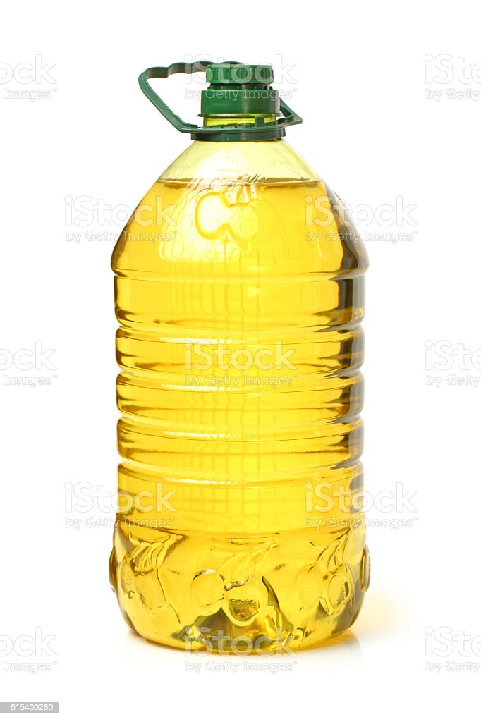 bottle oil plastic big stock photo