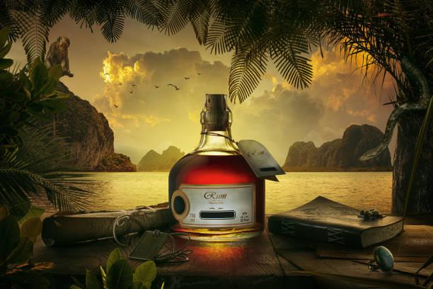 bottle on shore