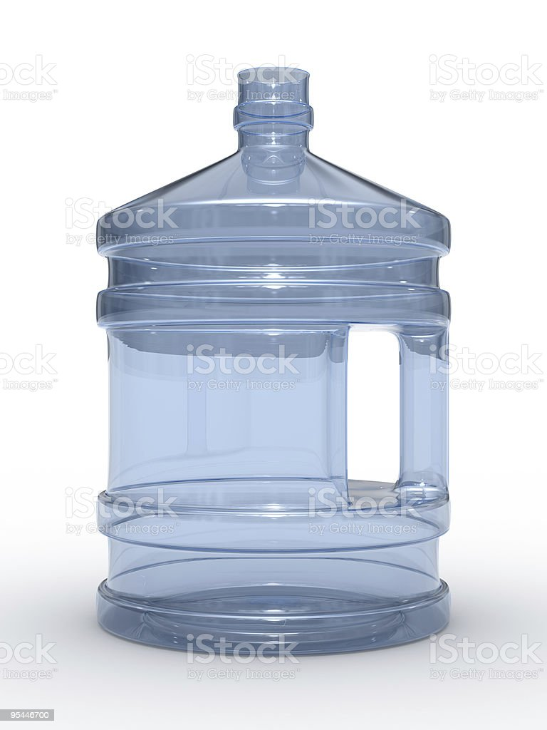 Bottle on white background. Isolated 3D image royalty-free stock photo