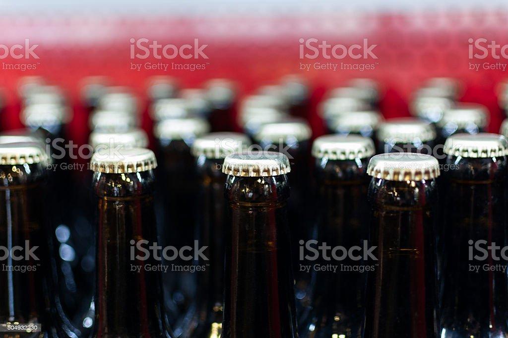 Flasche Reihen mit Metallkappen – Foto