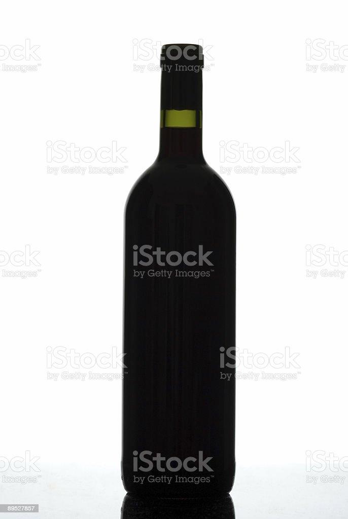Botella de silhouette. foto de stock libre de derechos