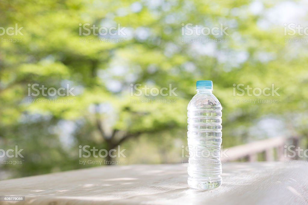 PET bottle water stock photo