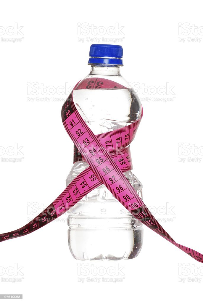 bottle water weight loss concept royalty-free stock photo