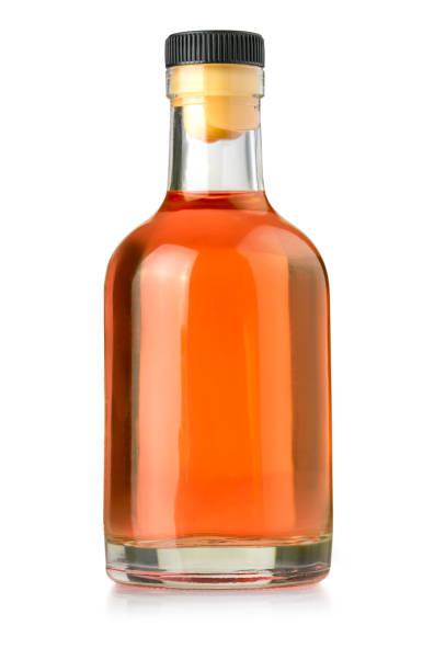 bottle  whiskey isolated stock photo
