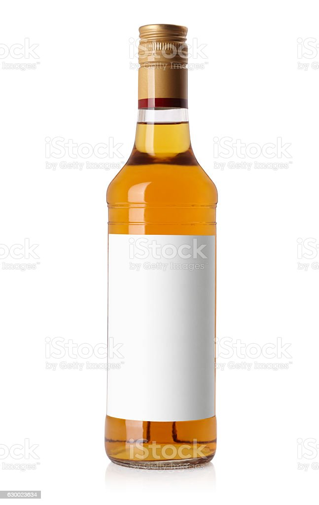 bottle with a light alcohol stock photo
