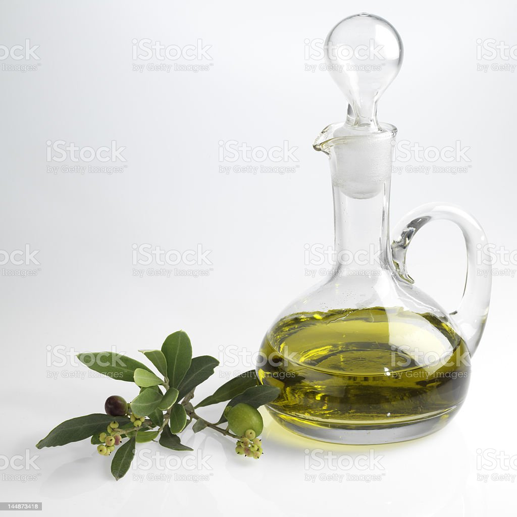 bottle with fine olive oil royalty-free stock photo