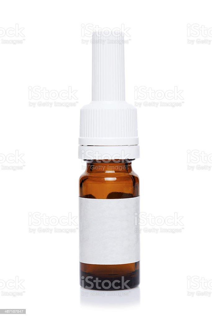 bottle with medicine stock photo