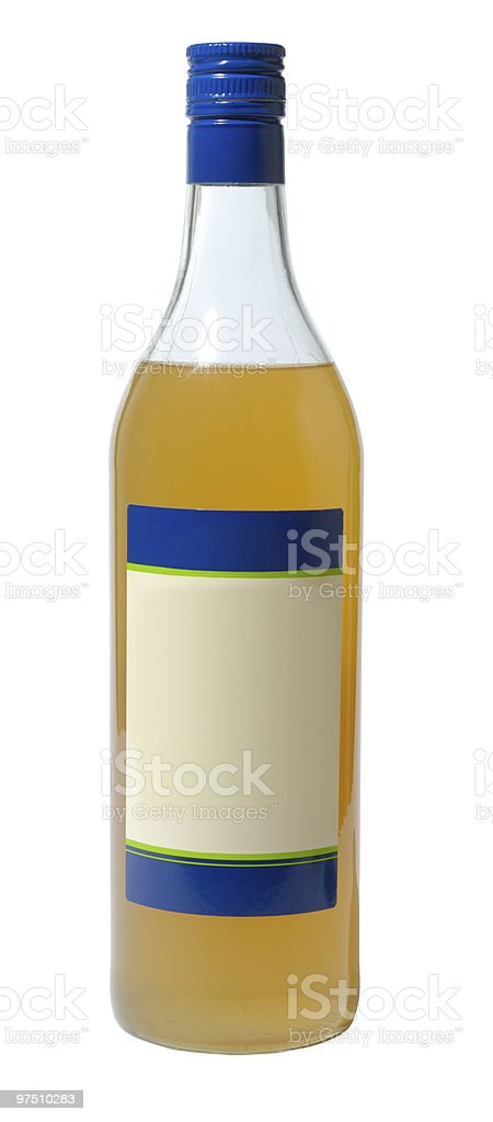 Bottle With Sirup royalty-free stock photo