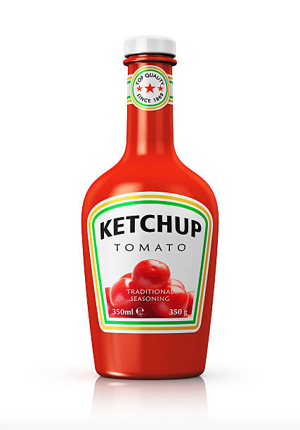 bottle with tomato ketchup - ketchup bottle stock photos and pictures