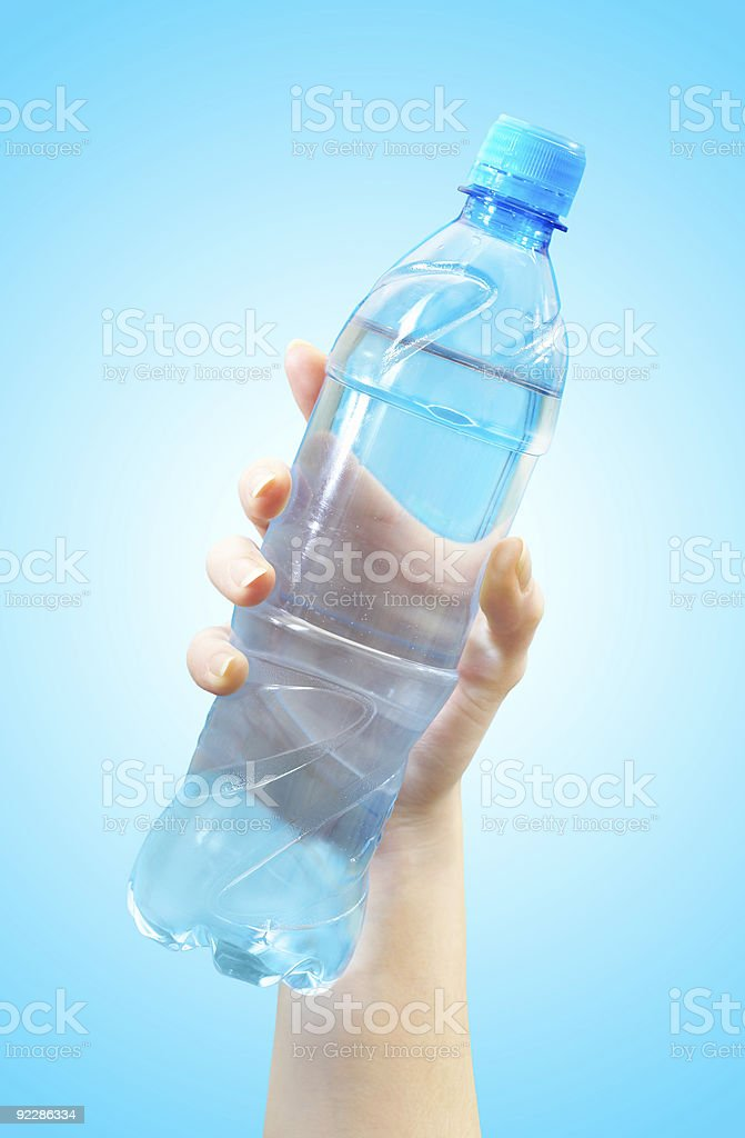 Bottle with water royalty-free stock photo