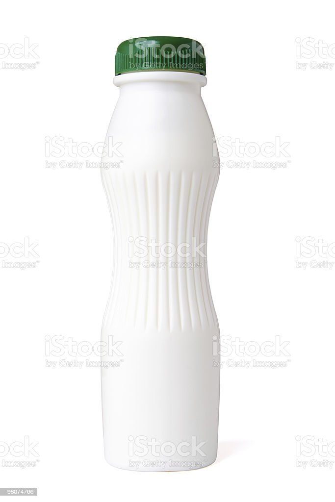 Bottle yoghurt stock photo