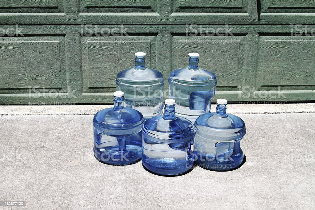 Bottled drinking water delivery royalty-free stock photo