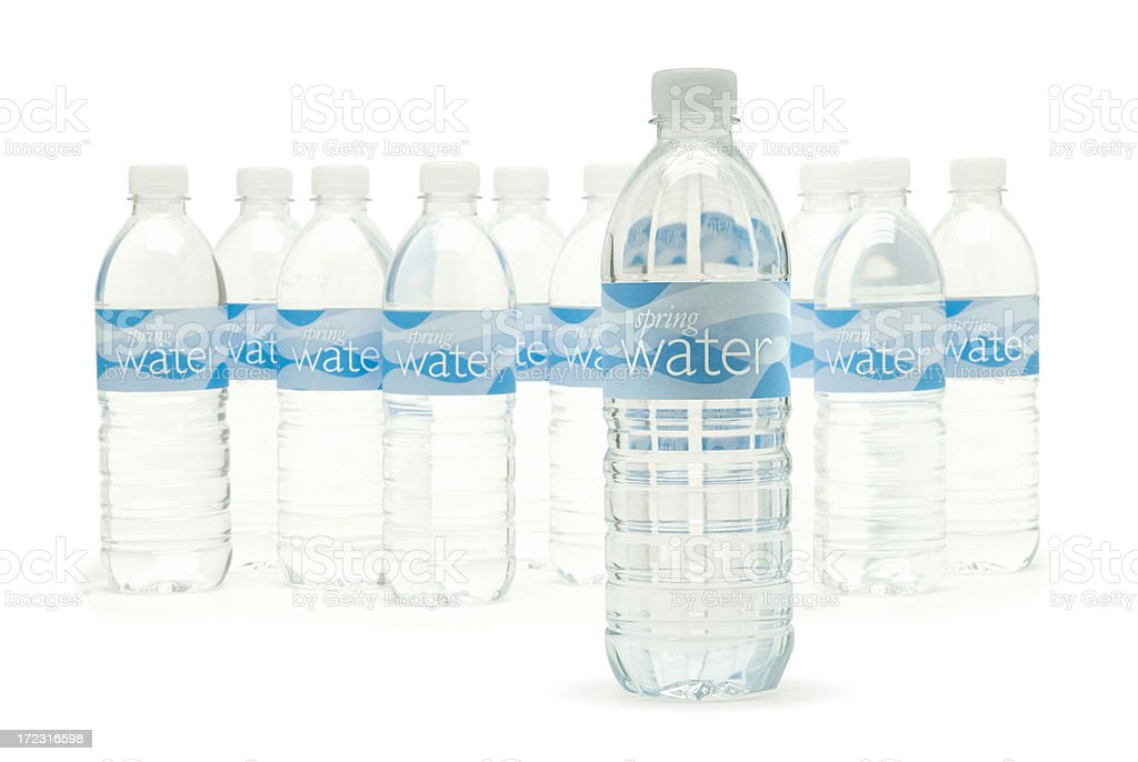 Bottled Spring Water royalty-free stock photo