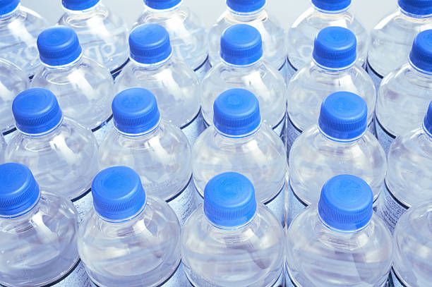 Botellas de agua - foto de stock