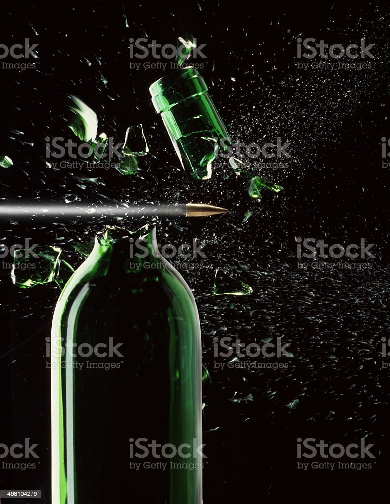 Bottleneck being shot off stock photo