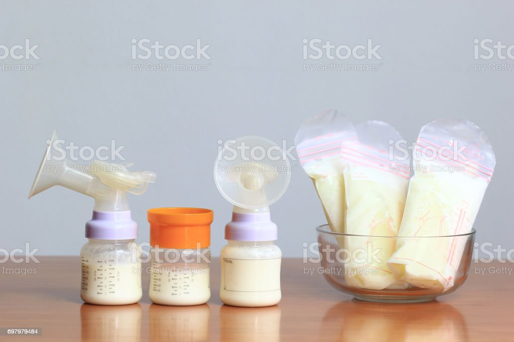 Breast milk with wood inclusion