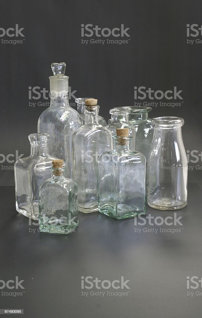 Bottles and Jars royalty-free stock photo