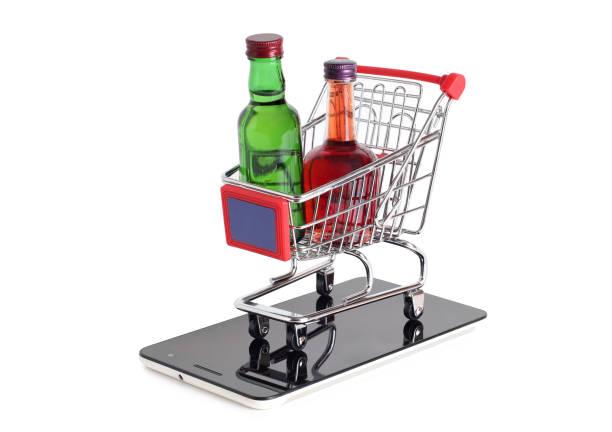 Bottles and trolley – zdjęcie