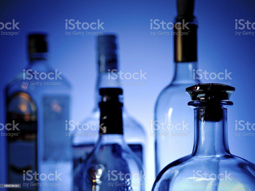 Bottles at a bar royalty-free stock photo