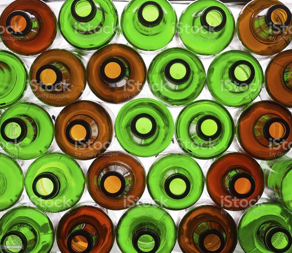 Bottles background royalty-free stock photo
