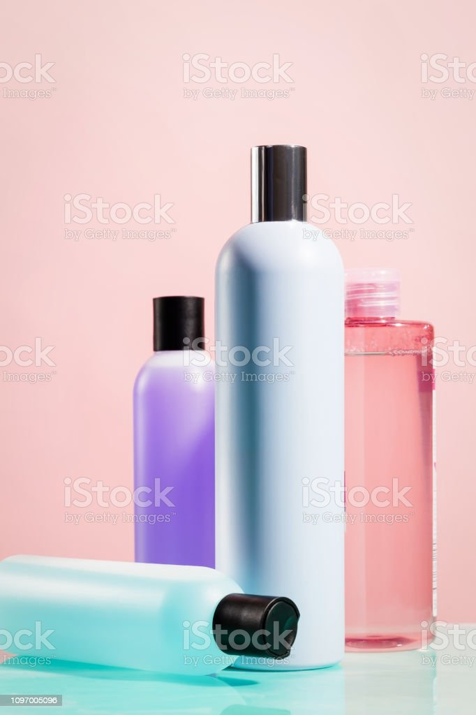 Bottles beauty products colors