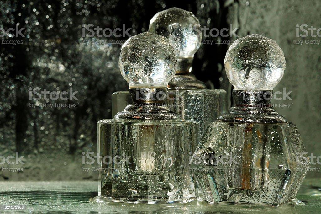 Bouteilles de la parfumerie photo libre de droits