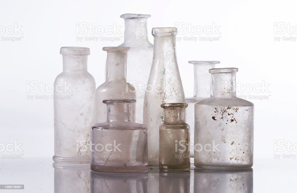 Bottles in a group royalty-free stock photo