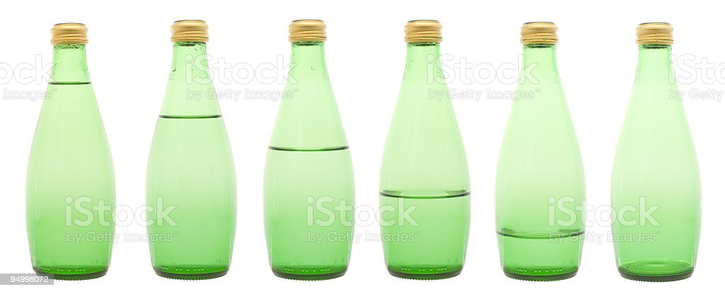 Bottles in a row (XXL) royalty-free stock photo