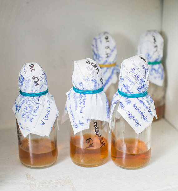 Flaschen in Labor – Foto