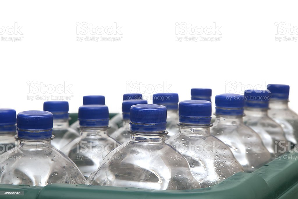 Bottles in Recycling Box royalty-free stock photo